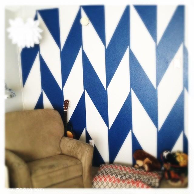 Pintar formas y dibujos en la pared blog de pintura - Maneras de pintar ...