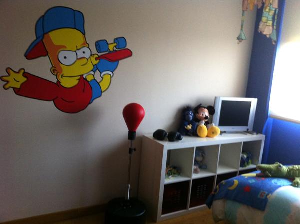 Pintar formas y dibujos en la pared blog de pintura - Dibujos infantiles para decorar paredes ...