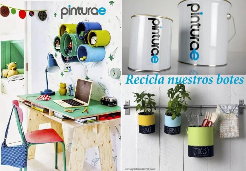 C mo reutilizar los botes de pintura blog de pintura for Blog de decoracion