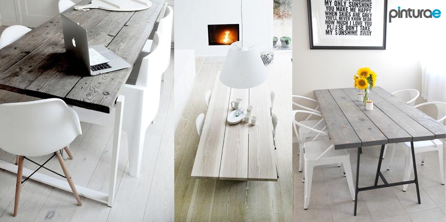 Pintar mesas de madera blog de pintura blog de pintura for Como pintar una mesa de madera