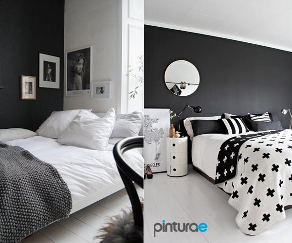 Pintar el dormitorio de negro - Dormitorios blanco y negro ...