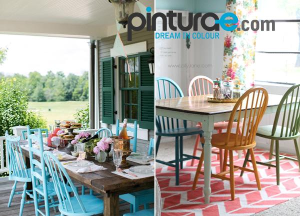 Sillas de colores pinta tus sillas de madera blog de for Sillas de colores para cocina