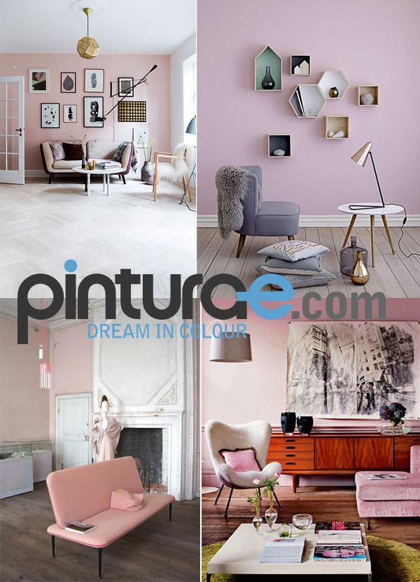 Pintar en rosa blog de pintura blog de pintura y - Decoracion de paredes para salones ...