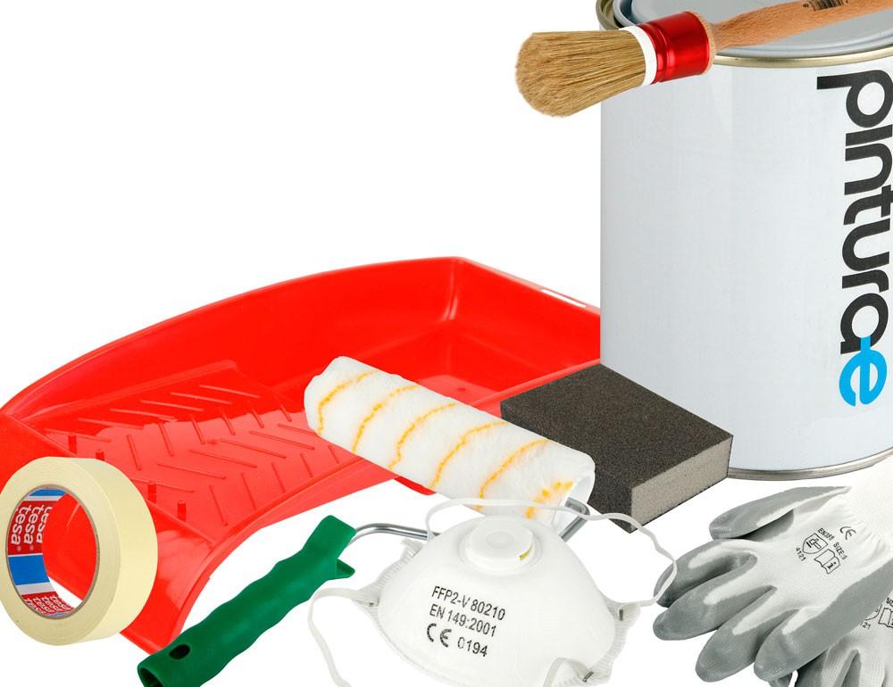 Kit pintura para piscinas 5 kg herramientas for Kit piscina hormigon