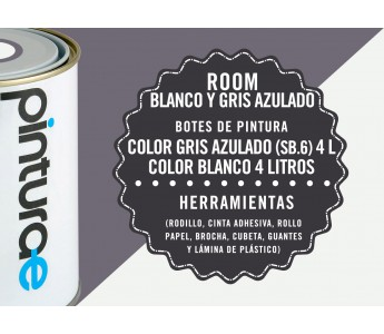 Room Combi Blanco y Gris Azulado